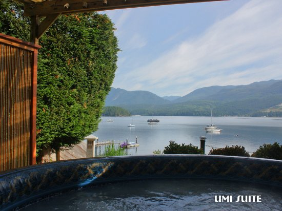 Sechelt, Canadá: View from Umi Hot Tub