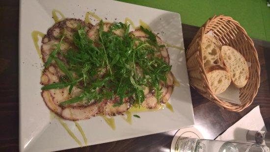 Haberstumpf Brauerei: Sehr leckeres Carpaccio vom Tintenfisch