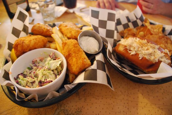 The Pickled Wrinkle: The Fish & Chips and the Crab Roll