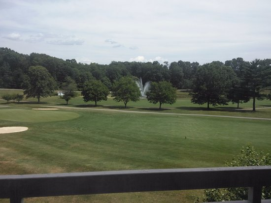 Ellicott City, MD: View from our room 361 at Turf Valley Resort.