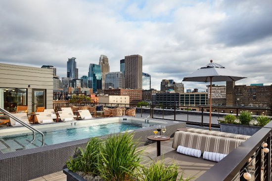 Hewing Hotel Rooftop Spa Pool And Lounge
