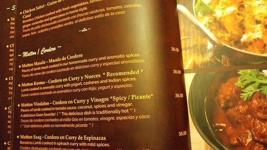Algo Mas De La Carta Picture Of Mantra Indian Cuisine Lima
