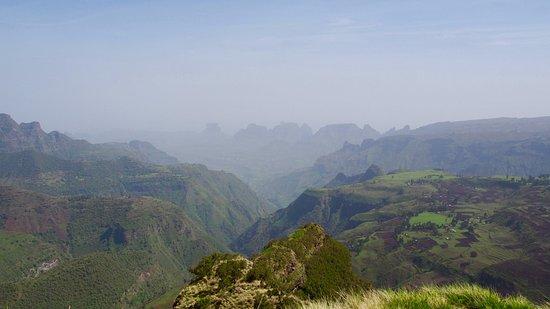 Debark, Etiopia: view on the mountains