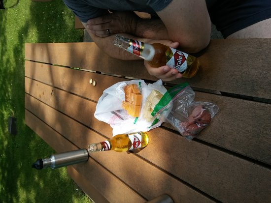 West Salem, WI: We took our cheese to the park and had a picnic.