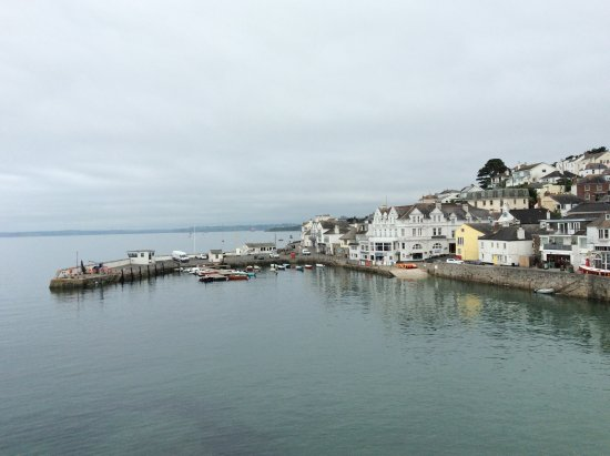 St. Mawes, UK: View of St Mawes harbour at high tide, early morning.