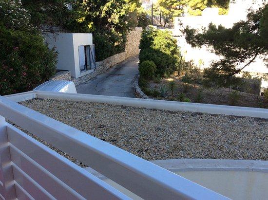 "Amfora Hvar Grand Beach Resort: View from our ""open-air balcony"""