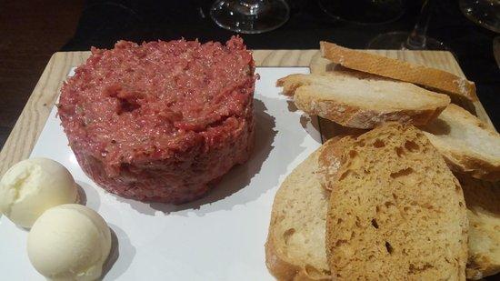 Sant Esteve de Palautordera, Spanien: Steak tartare