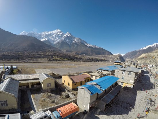 Jomsom, Nepal: View from the terrace