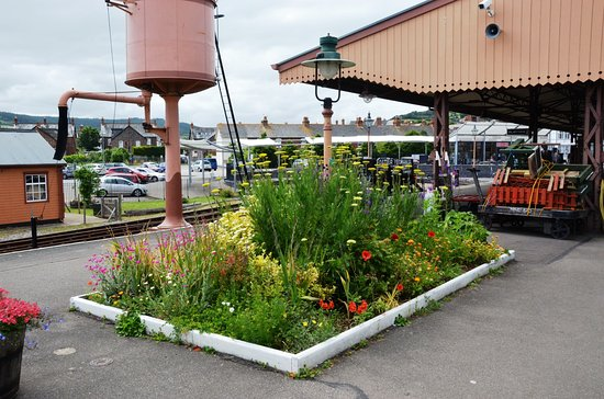 Somerset & Dorset Railway Museum: Gardens are well tended on every station