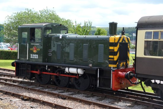 Somerset & Dorset Railway Museum: This little diesel shunter is around sixty years old and running well.