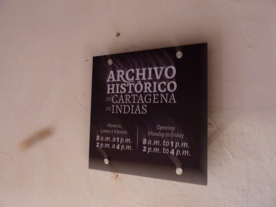 Museo Histórico de Cartagena de Indias: Archive is also there in the same building