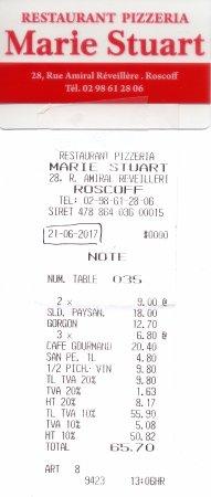Pizzeria Marie Stuart : ADDITION MARIE STUART