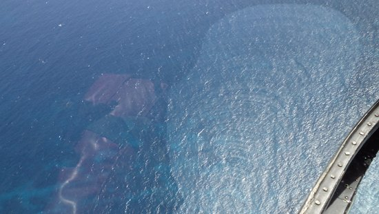 Caribbean Helicopters: Pretty water view from a Caribbean Helicopter.
