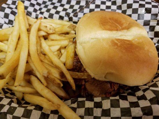 Smokin Joes: Beef brisket sandwich