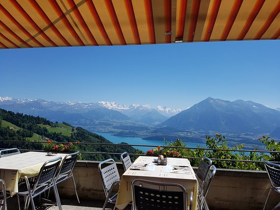 Heiligenschwendi, Swiss: Terrace view