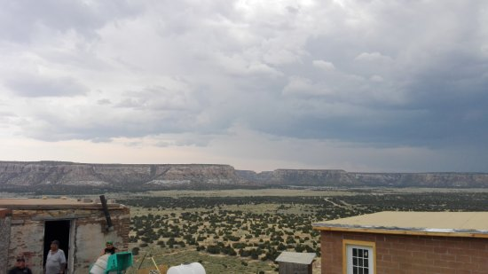 Pueblo of Acoma, NM: The view from the top from an angle