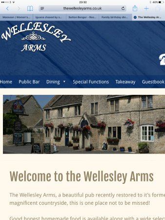 Sutton Benger, UK: Family birthday dinner at the Wellesley arms
