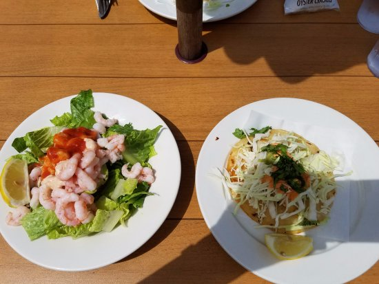 Snohomish, WA: Shrimp Stuffed Avocado and Halibut Taco