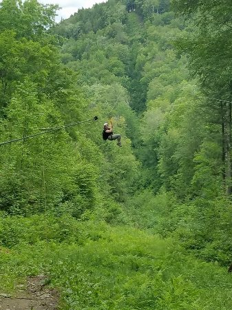 Berkshire East Canopy Tours: Coming in for a landing!