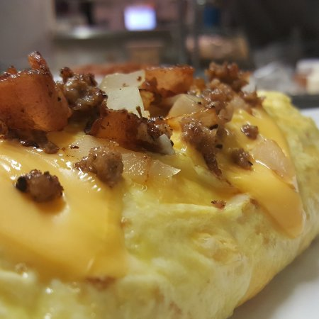 Silver Bay, MN: Sausage and bacon omelette....