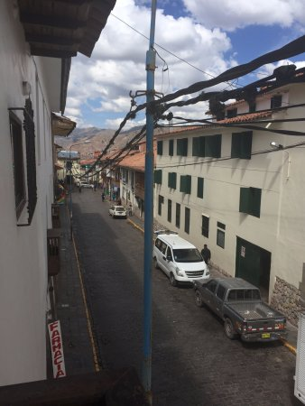 Andenes al Cielo: View down the street from our room