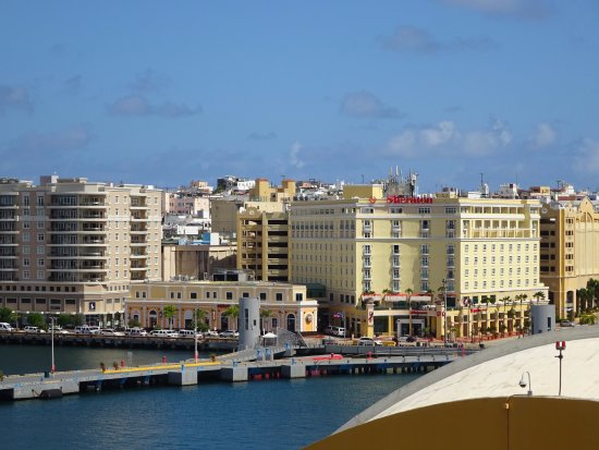 Sheraton Old San Juan Hotel: View from the Carnival Fascination Ship