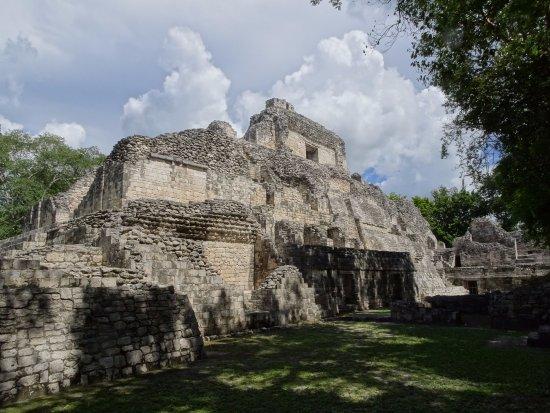 Becan Ruins: Estructura X desde el otro lado