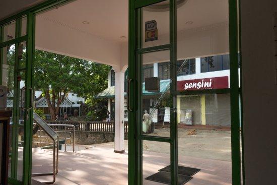 Hotel Elephant Park: フロントからゾウの通る道を見る