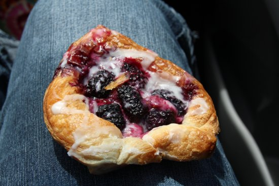Astoria Riverfront Trolley: flakey berry croissant!  Delicious! This is one half of the dessert!
