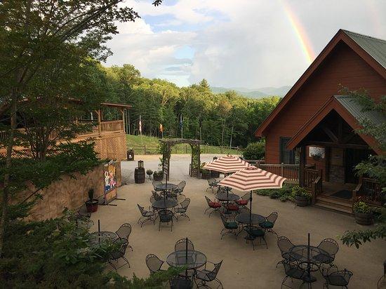 Paradise Hills Resort:  Just photo of rainbow at the wine patio