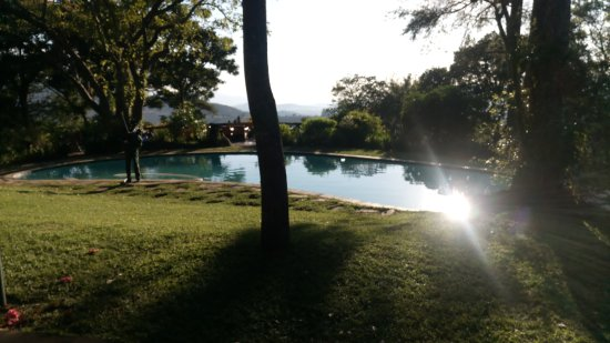 Piggs Peak, Svaziland: the swimming pool overlooking the valley below