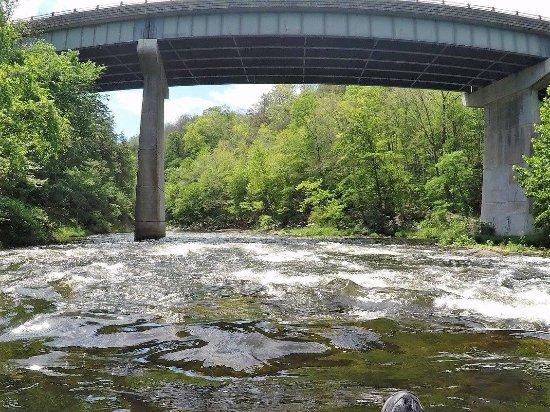 Small rapids approaching bridge - Picture of Farmington