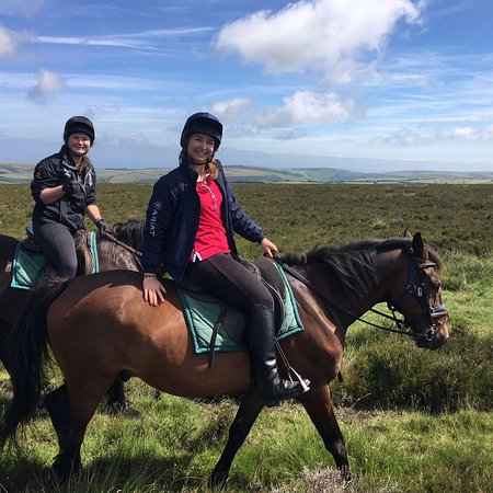 Riding over Exmoor