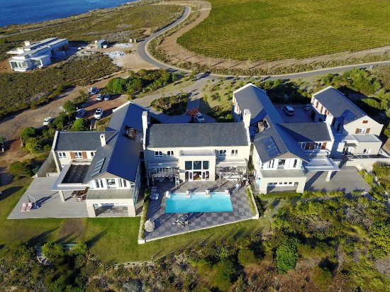 Hermanus, South Africa: Breathtaking aerial shot of the Manor House at Benguela Cove