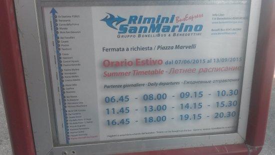 Costa Dorada, Spanien: Расписание автобусов в Сан Марино