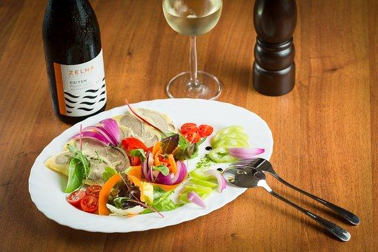 Balaton Etterem: Hideg libamáj friss zöldségekkel& Pinot Gris #zelnacsiten