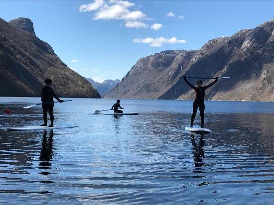 Frafjord, นอร์เวย์: SUP fun