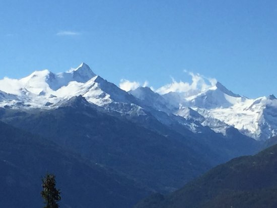 Crans Luxury Lodges: View from our chalet