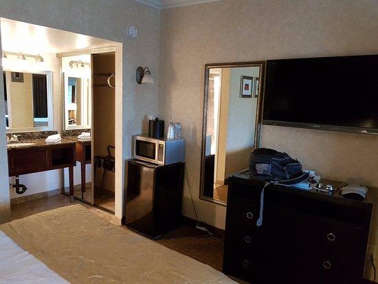 Master Bedroom Sink, Closet, Mini-kitchen, TV And Dresser