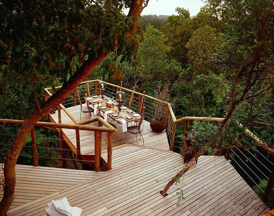 Harkerville, Sudafrica: Tsala Treetop Lodge Outdoor Dining