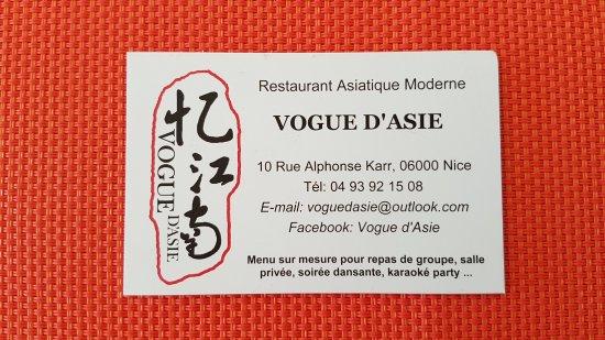 Vogue DAsie Carte De Visite