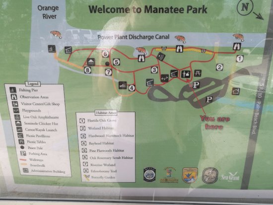 Map Of Fort Myers Florida.Map Of The Park Picture Of Manatee Park Fort Myers Tripadvisor
