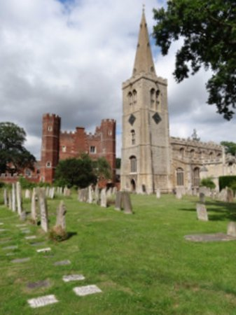 St Mary's with Buckden Tower behind