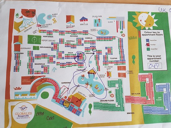 map of site our rooms were 48 50 and 66 circled all good location
