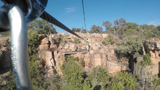 Magaliesberg Canopy Tour: arriving at the deck