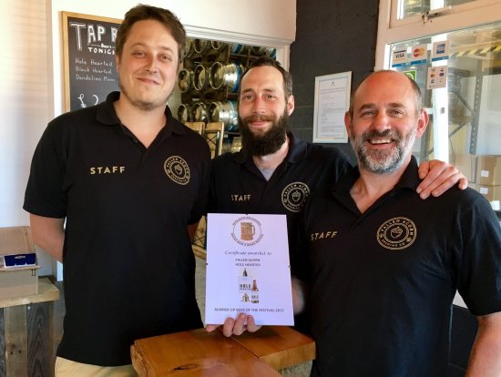 Gosport, UK: Award from Burseldon Beer Festival 2017