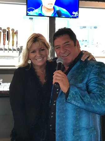 Aquebogue, NY: Larry Liso with Kelli at Phil's Waterfront