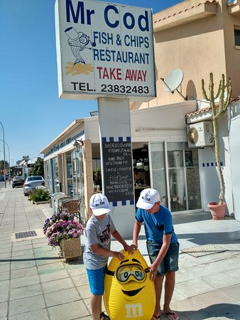 Mr cod fish bar restaurant protaras restaurant reviews for Mr fish seafood restaurant