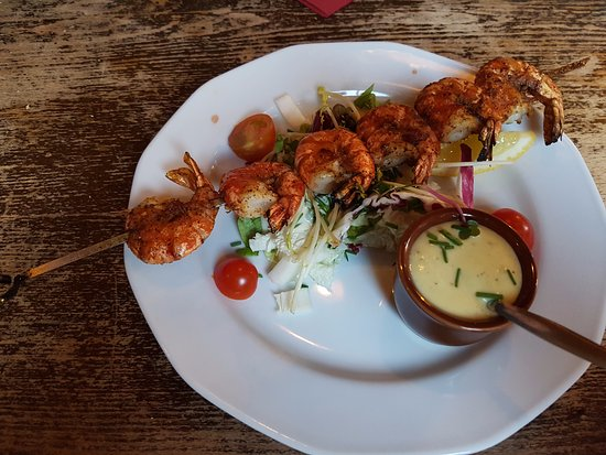 The Longhorn Oirschot: Prawn Skewer