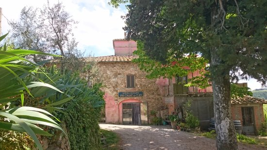 Cavriglia, Italie : the old farm-house Morellino § Poggi del Chianti Winery